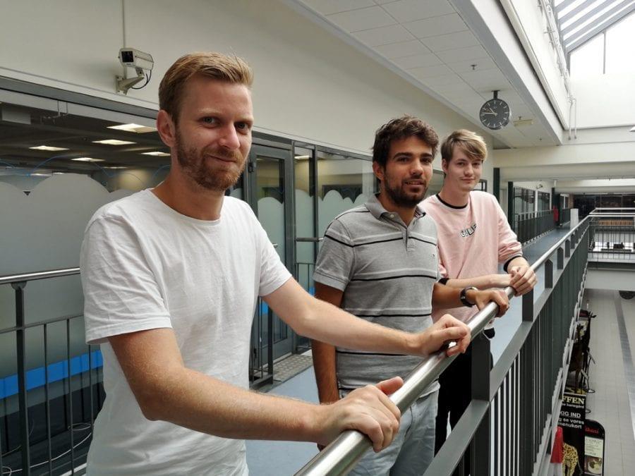 Casper Bach Andersen, Bosco Wensink Errazuriz og Casper Brøchner Andresen.
