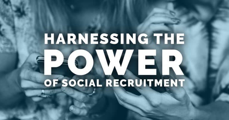 "Et citat der siger: ""Harnes the power of social recruitment"""