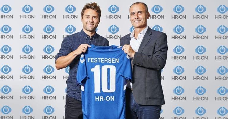 Tidligere OB-anfører Rasmus Festersen skifter til HR-ON og ses her med direktør Ali E. Cevik