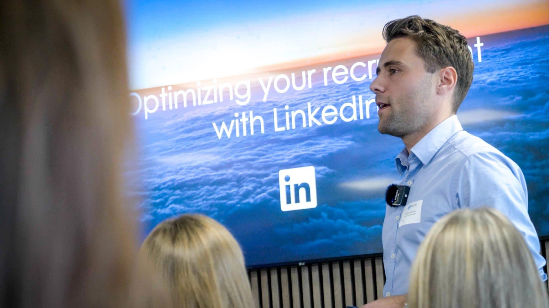 Rasmus Festersen til HR-ONs LinkedIN seminar