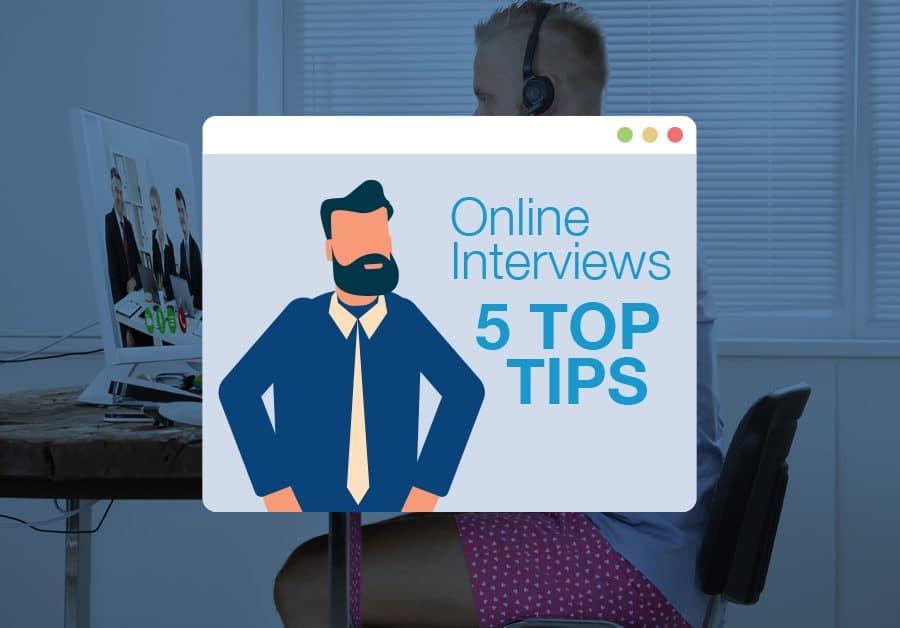 5 gode tips til din online jobsamtale