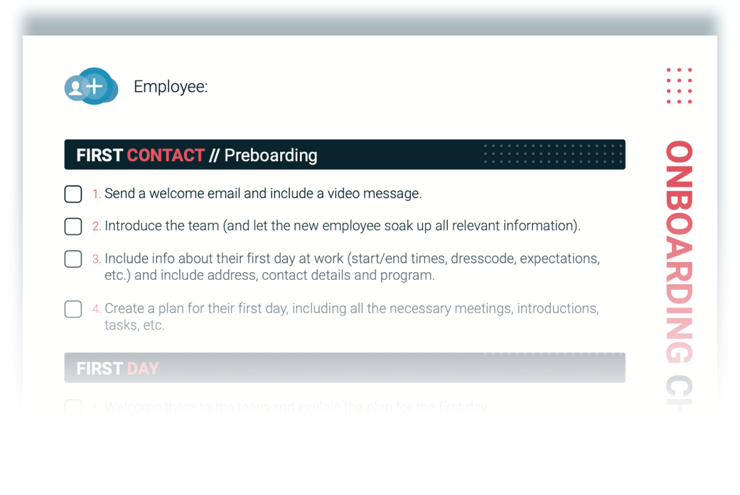 Onboarding process checklist